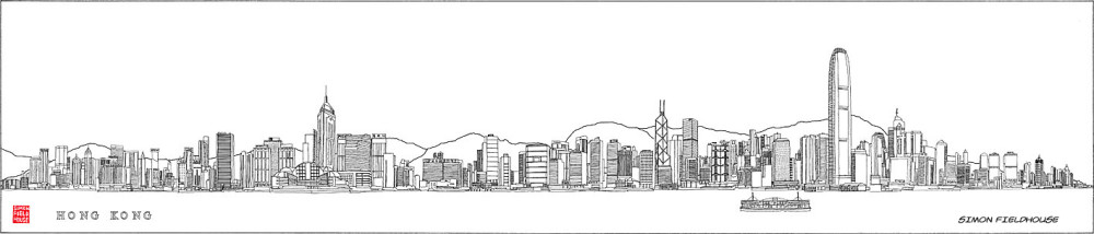 Hong Kong Skyline (view from Kowloon)
