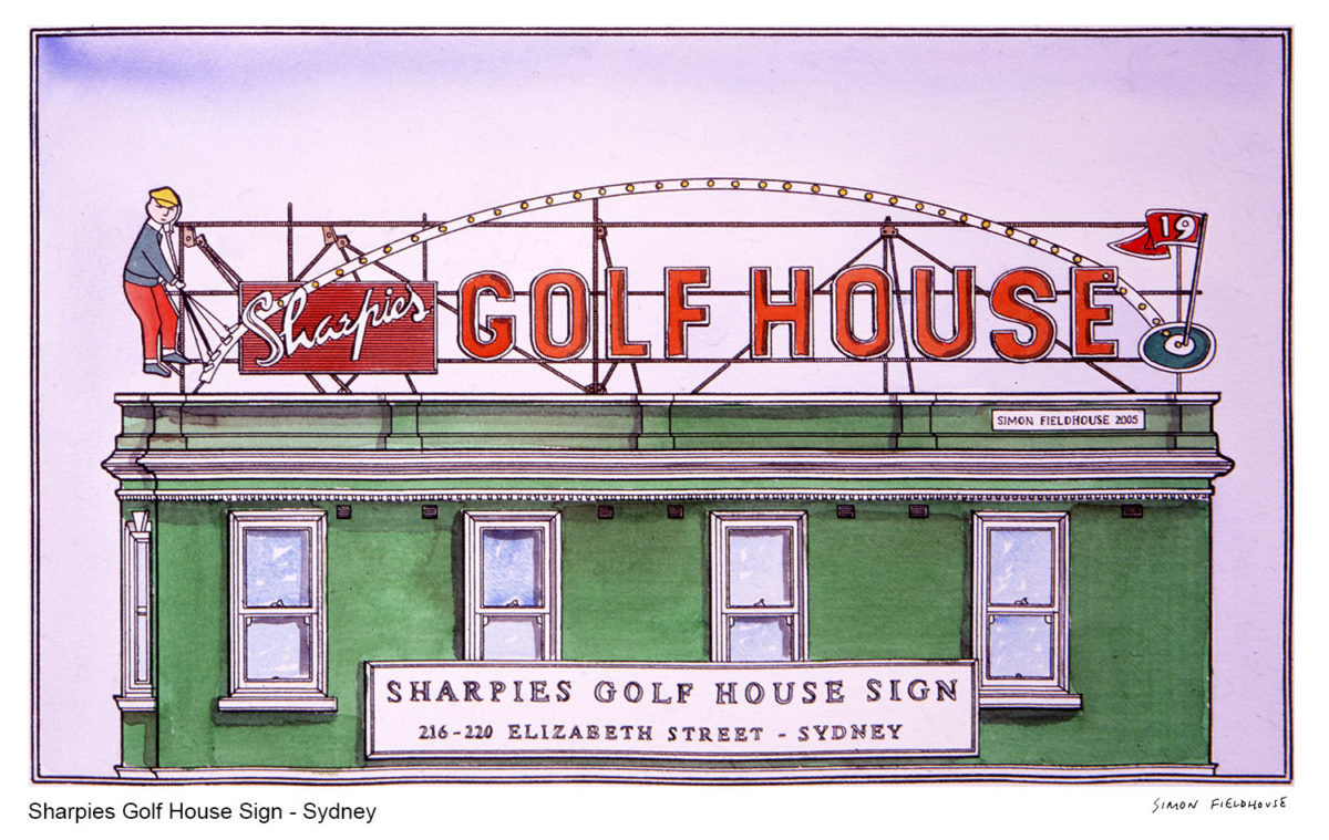Sharpies Golf Sign - Elizabeth Street Sydney (now demolished)