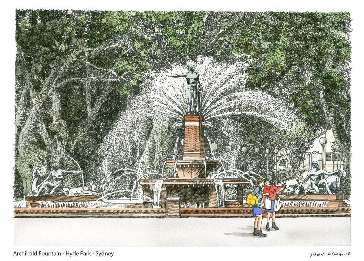Archibald Fountain - Hyde Park - Sydney