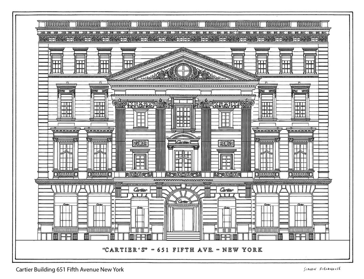 Cartier Building 651 Fifth Avenue New York Elevation