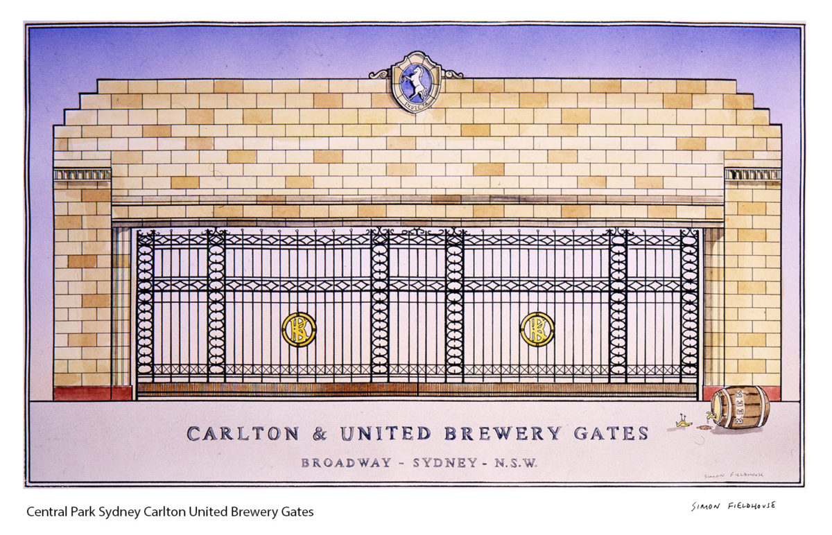 Central Park Sydney Carlton United Brewery Gates