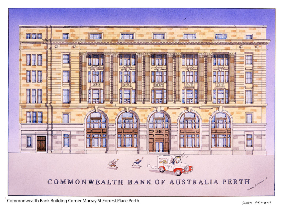 Commonwealth Bank Building Corner Murray St Forrest Place Perth