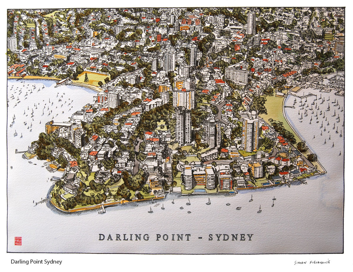 Darling Point Sydney Aerial View