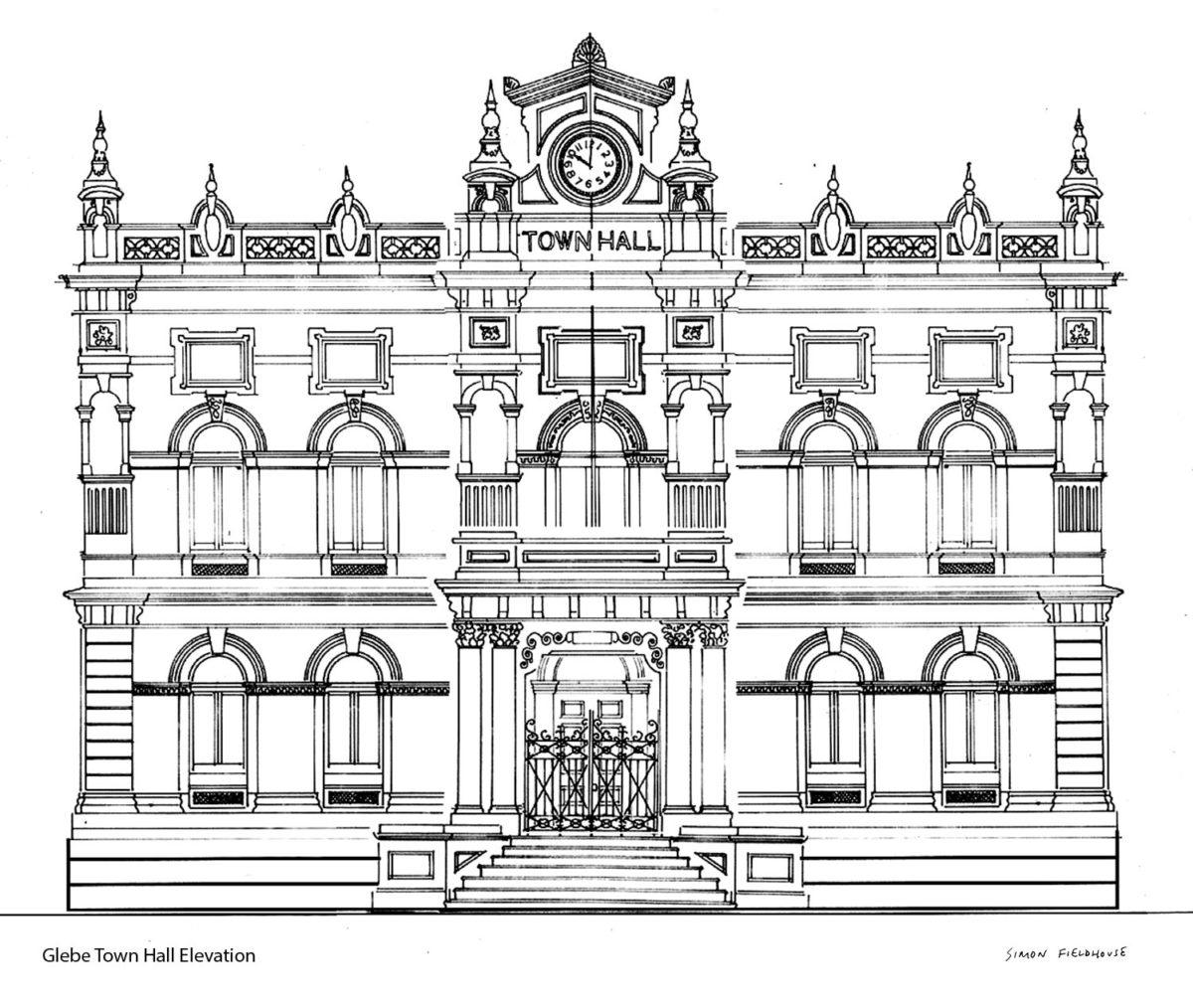 Glebe Towh Hall elevation