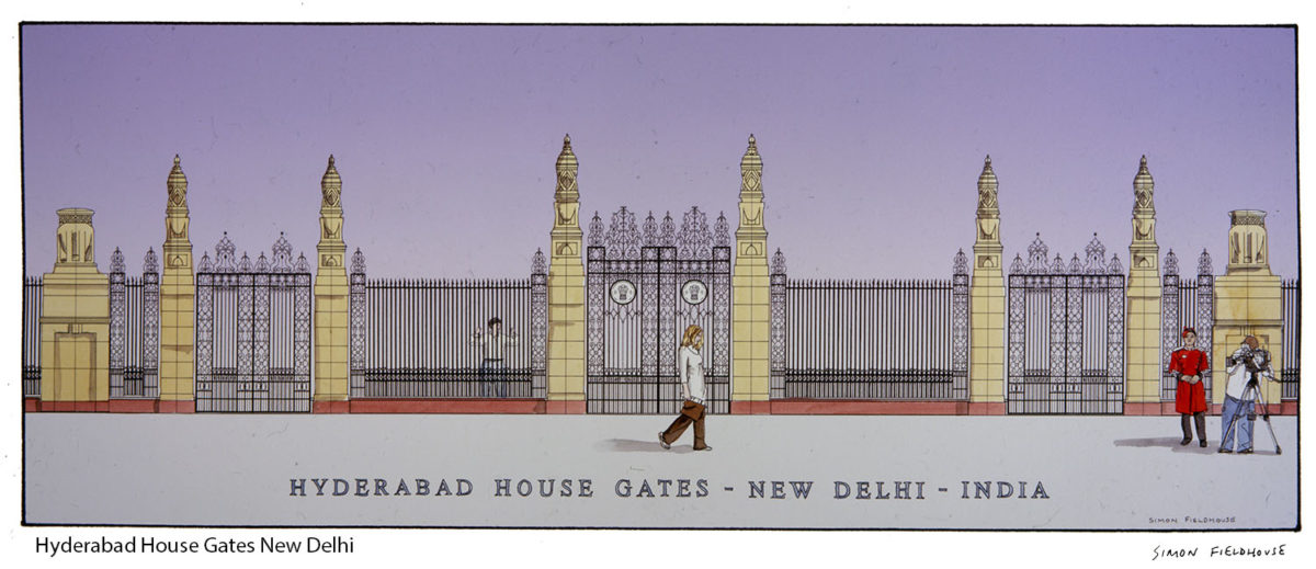 Hyderabad House Gates New Delhi