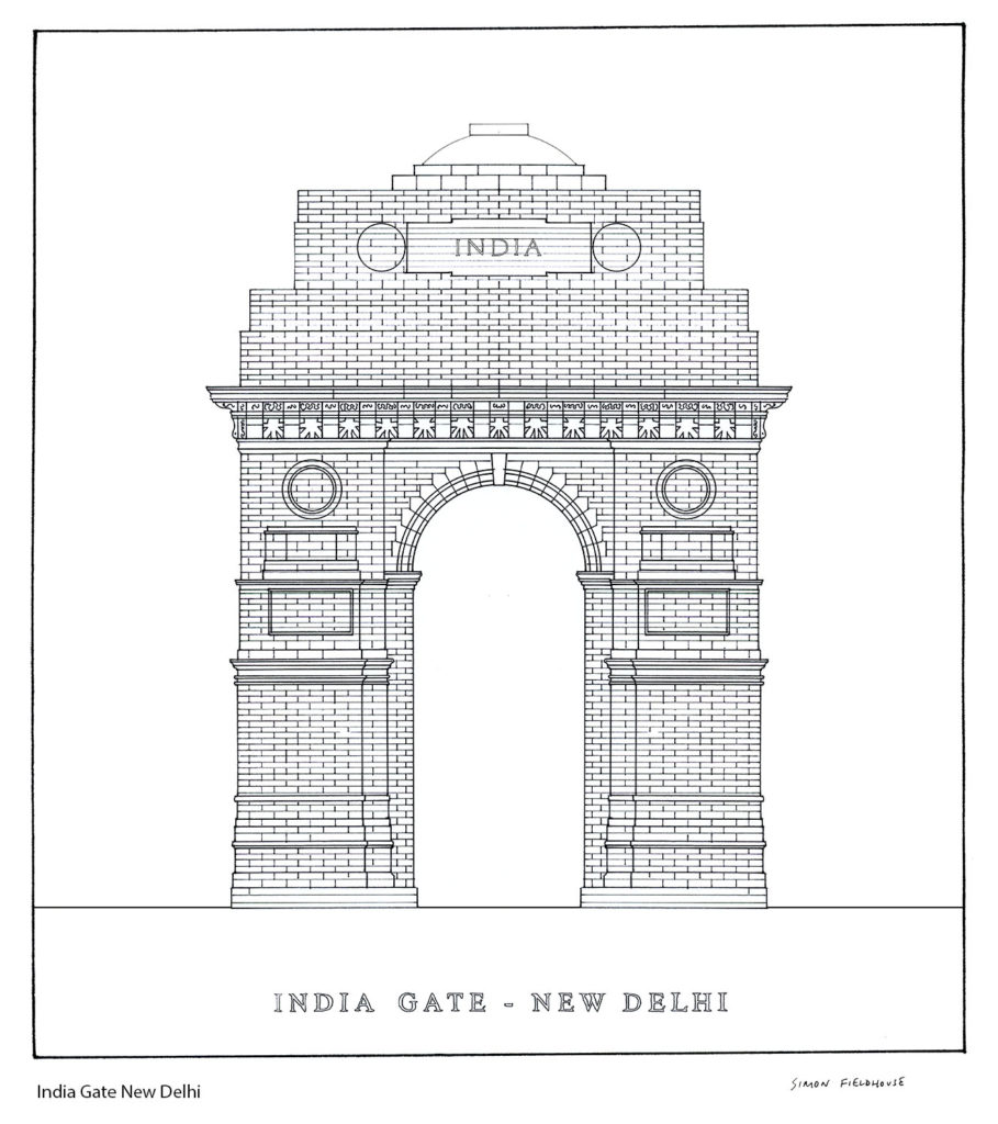 Drawing picture of india gate