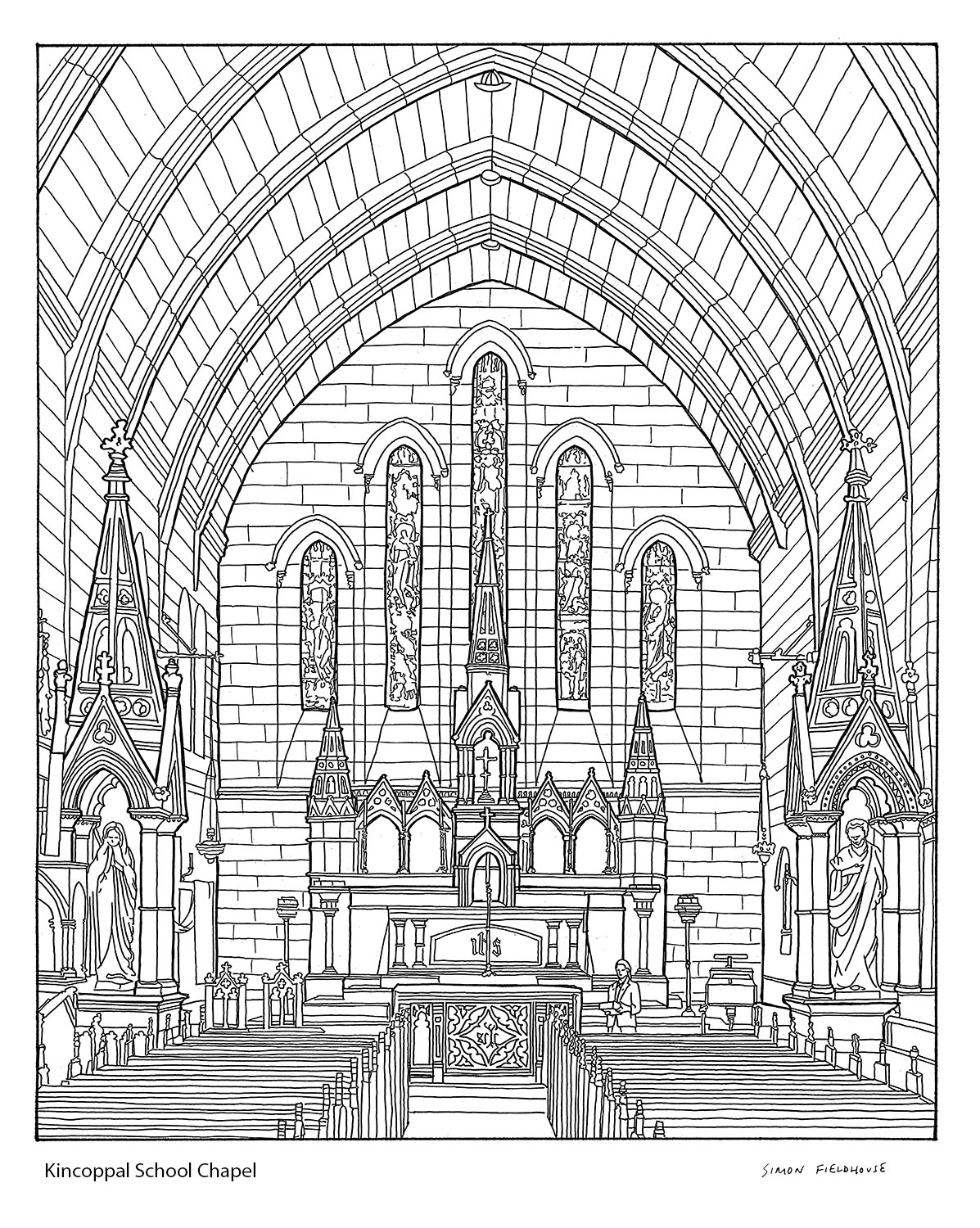Kincoppal School Chapel Drawing