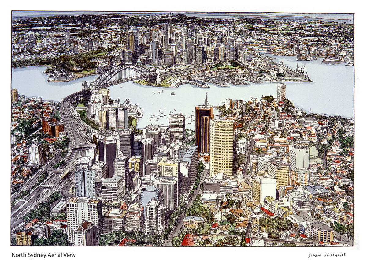 North Sydney aerial view