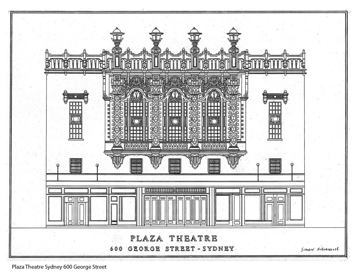 Plaza Theatre Sydney elevation