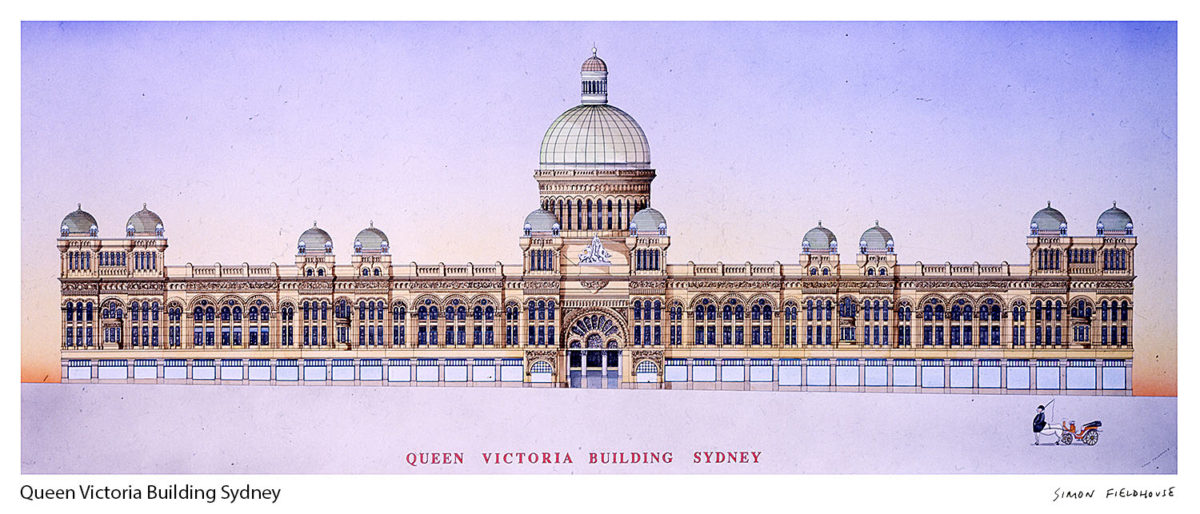 QVB Queen Victoria Building Sydney George Street Elevation
