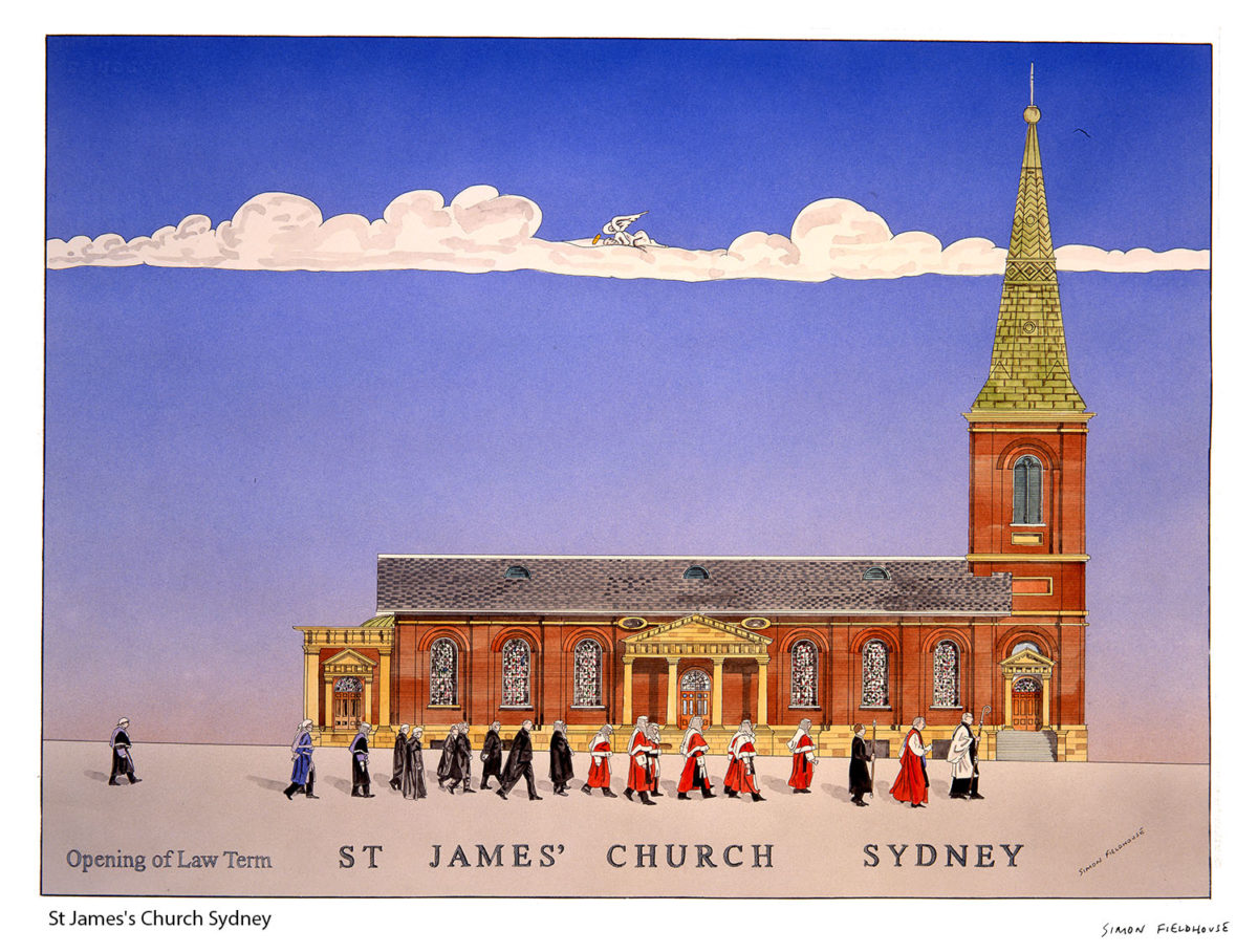 St James's Church Sydney Opening of Law term