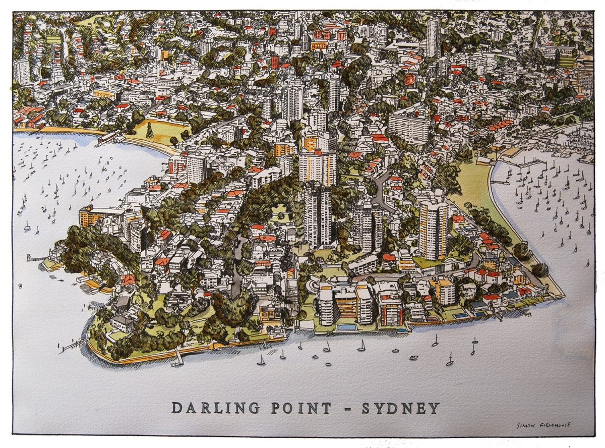 Darling Point Aerial View