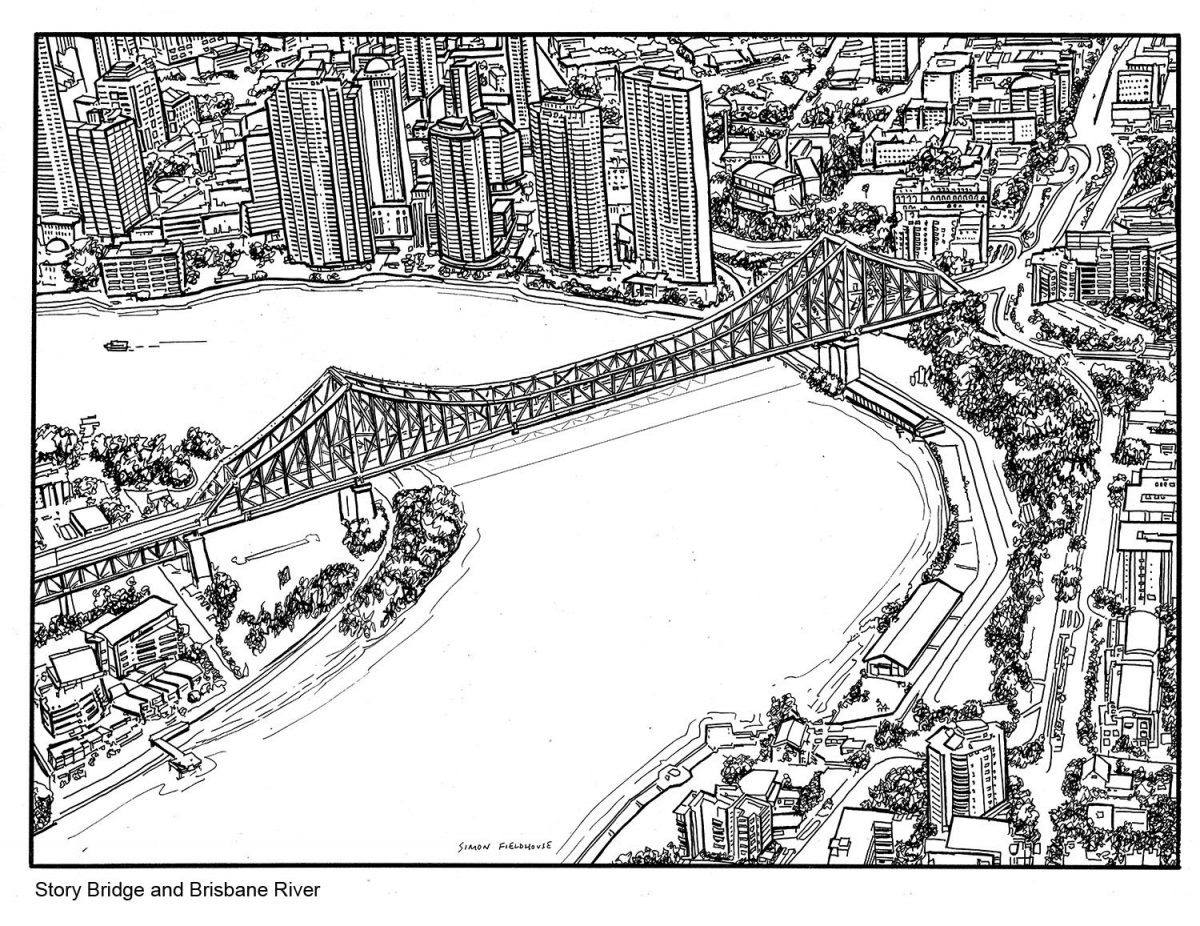 Story Bridge And Brisbane Aerial View